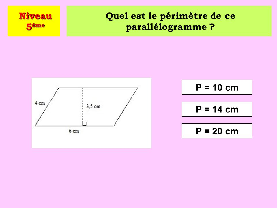 Un quadrilatère qui a ses côtés opposés parallèles est un … .