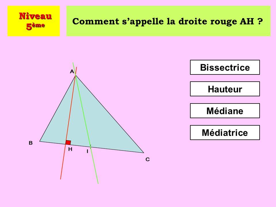 Combien vaut la somme des trois angles d'un triangle ? 180° 90° 360° Niveau 5 ème