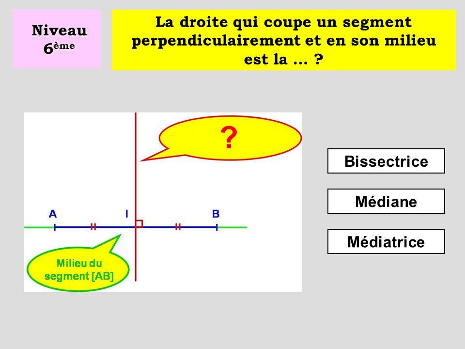 Médianes Perpendiculaires Bissectrices Niveau 6 ème Deux droites qui se coupent à angle droit sont dites … ?
