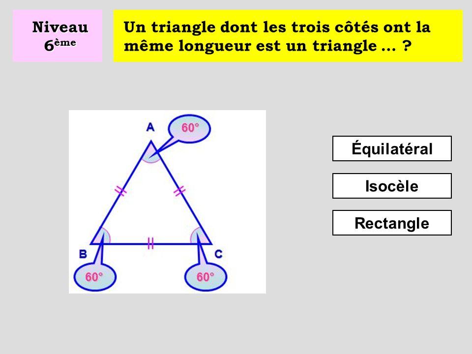 Un triangle ayant deux côtés de même longueur est un triangle … .