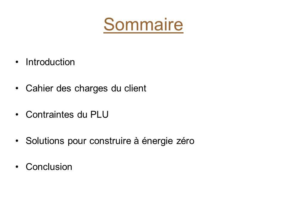 Architecture Et Construction Sommaire Introduction Cahier Des