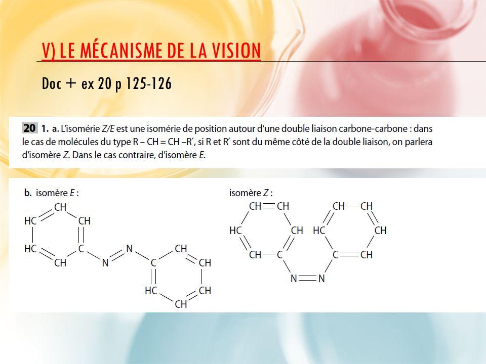 V) LE MÉCANISME DE LA VISION Doc + ex 20 p 125-126
