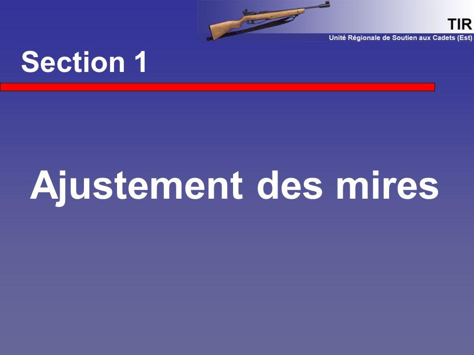 Section 1 Ajustement des mires