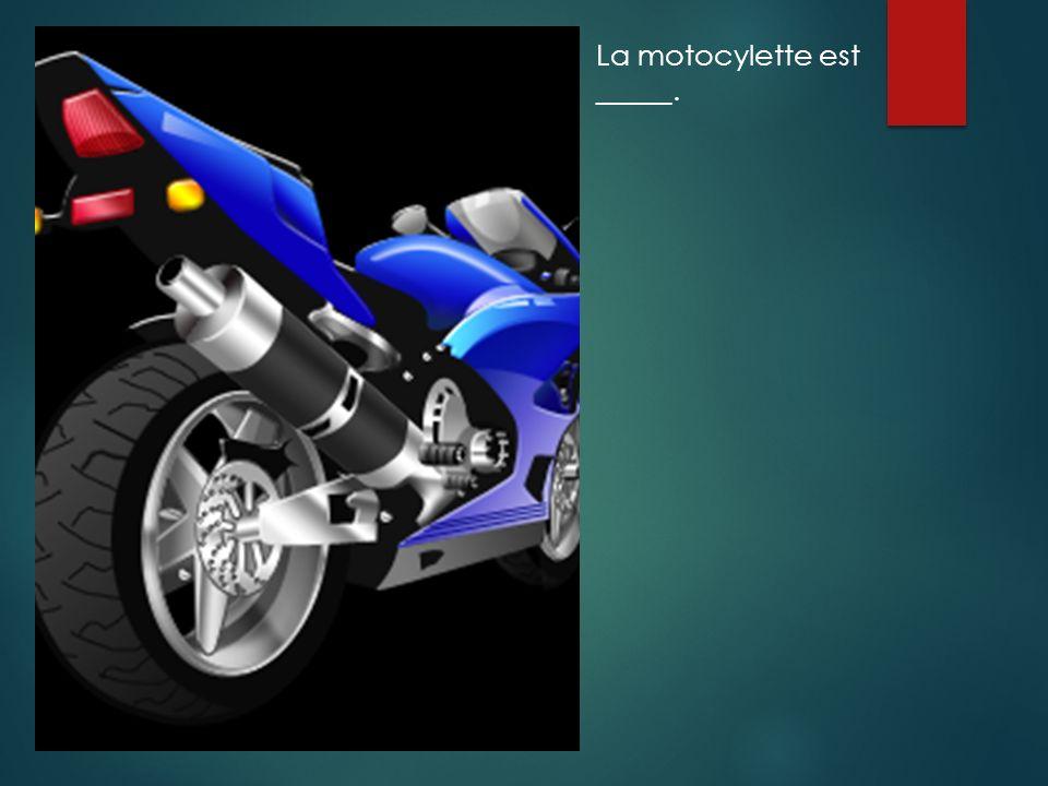 La motocylette est _____.