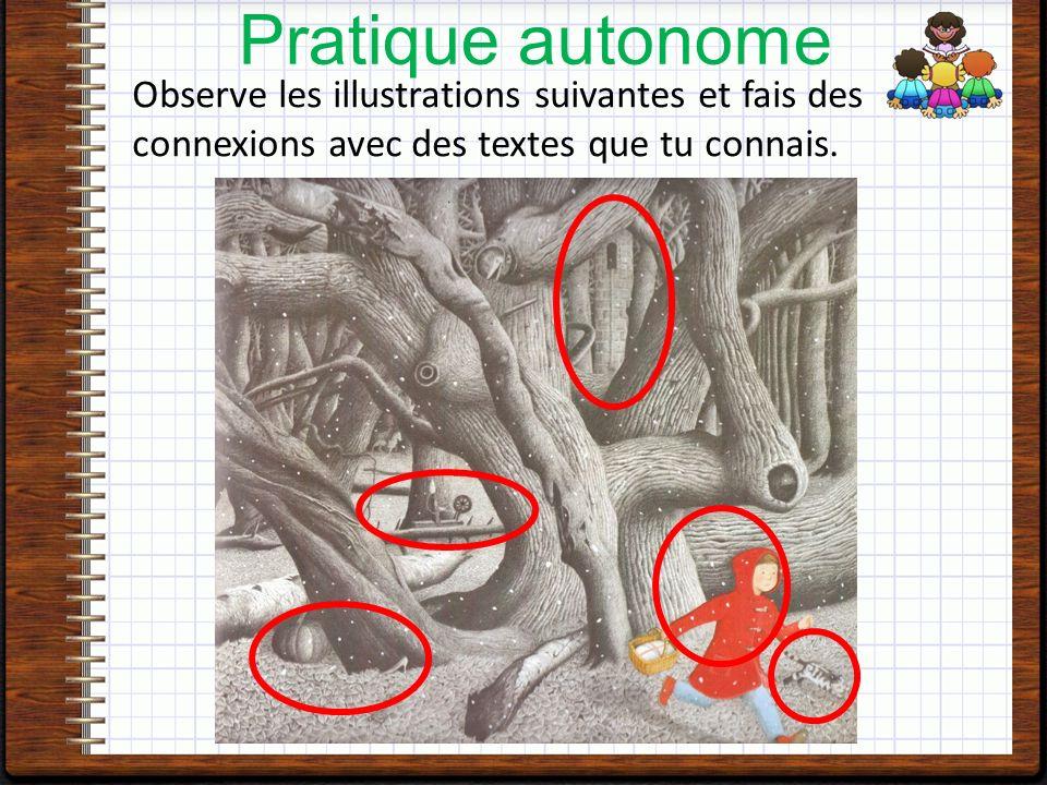 Observe les illustrations suivantes et fais des connexions avec des textes que tu connais.