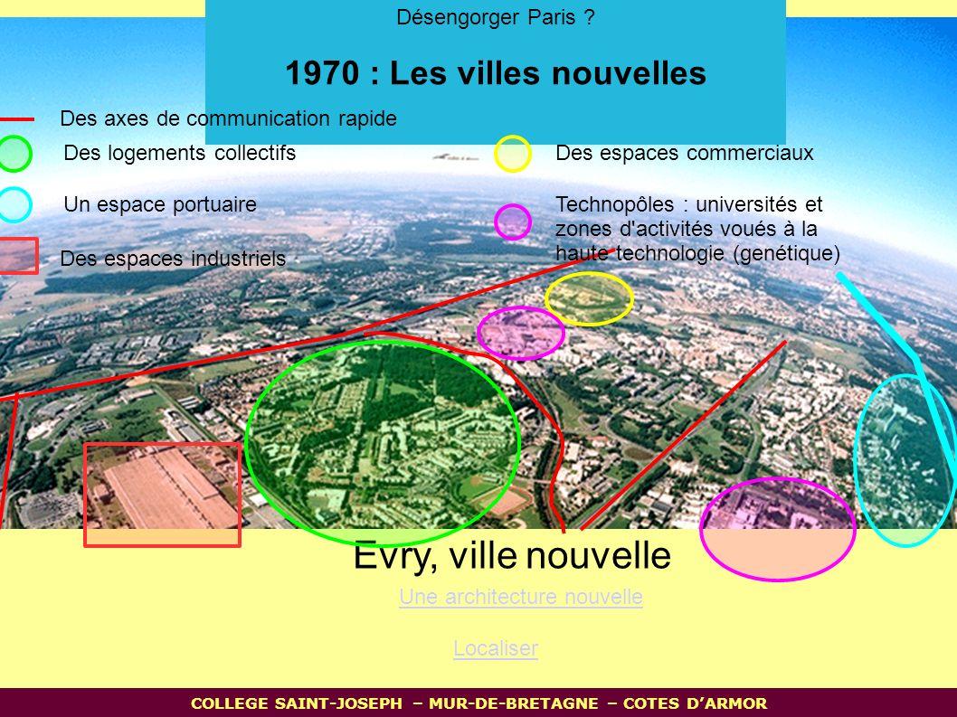 Evry, ville nouvelle Localiser Une architecture nouvelle Désengorger Paris .