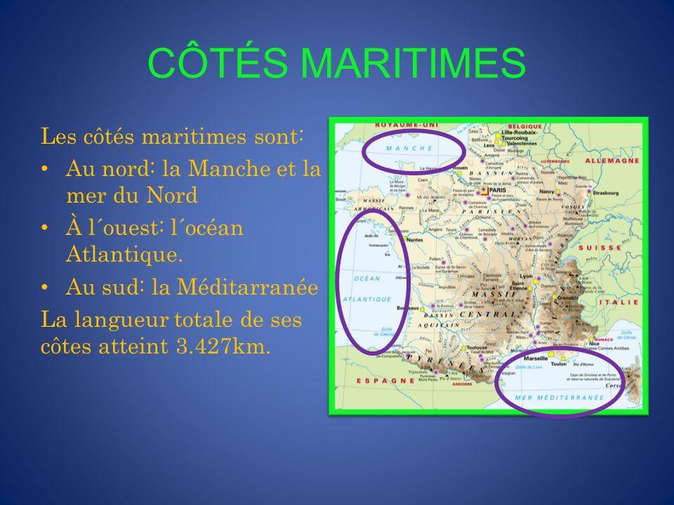 L´HEXAGONE D´une superficie de 551.500 km2, la France s´étend sur 1000 km du nord au sud et sur 950 km de l´est à l´ouest.