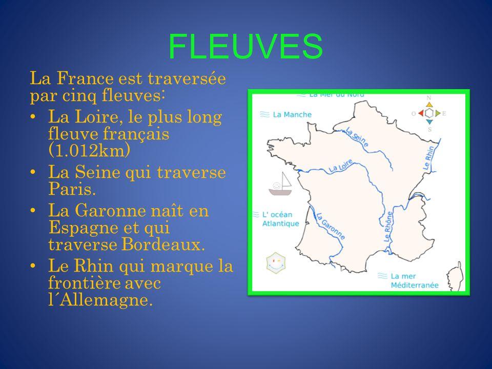 MONTAGNES Les chaînes de montagnes en France sont: Les Alpes séparant la France de la Suisse et de l´Italie.