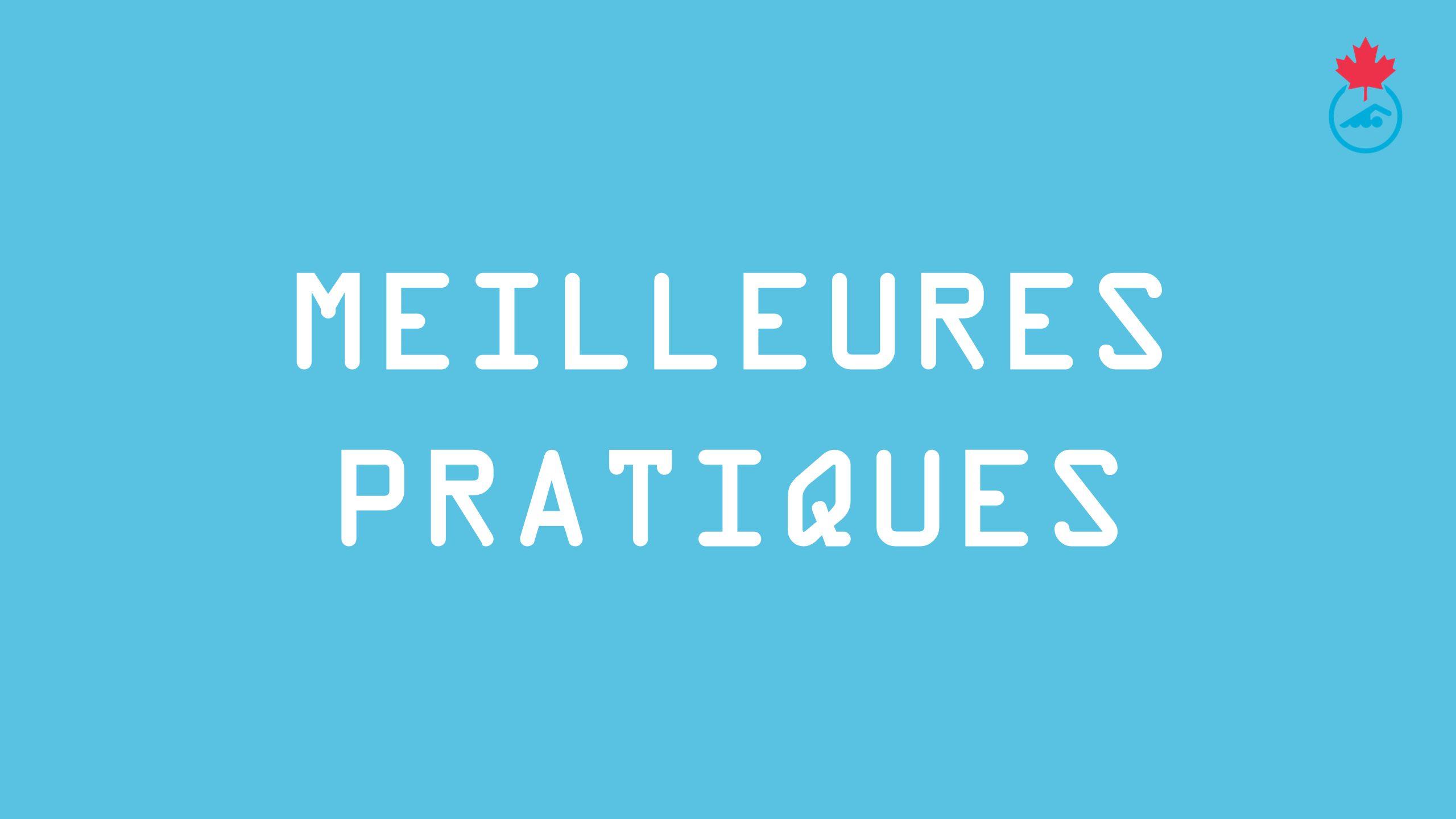 MEILLEURES PRATIQUES