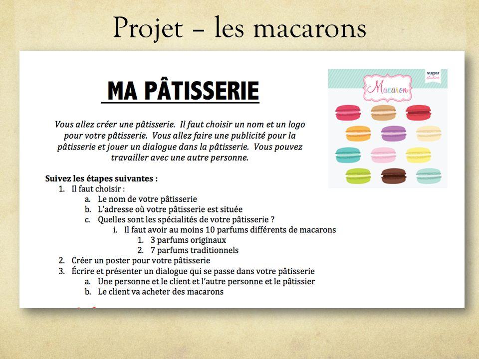 Projet – les macarons