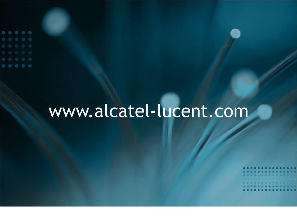 All Rights Reserved © Alcatel-Lucent 2007 35 | EBG HealthCare Webinar | 2007 Le projet REVES
