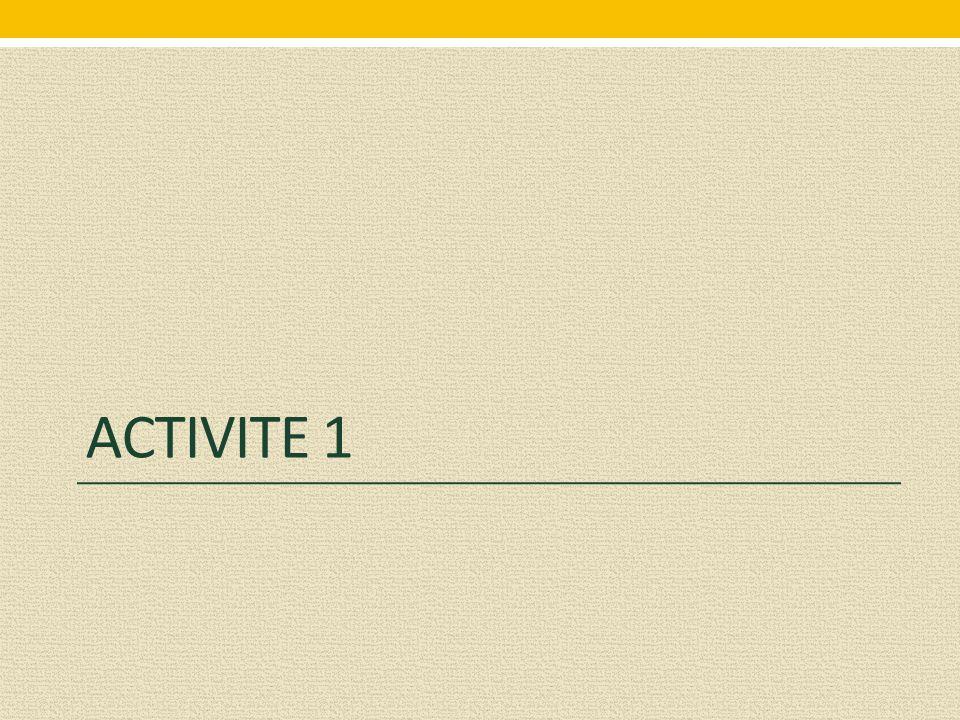 ACTIVITE 1