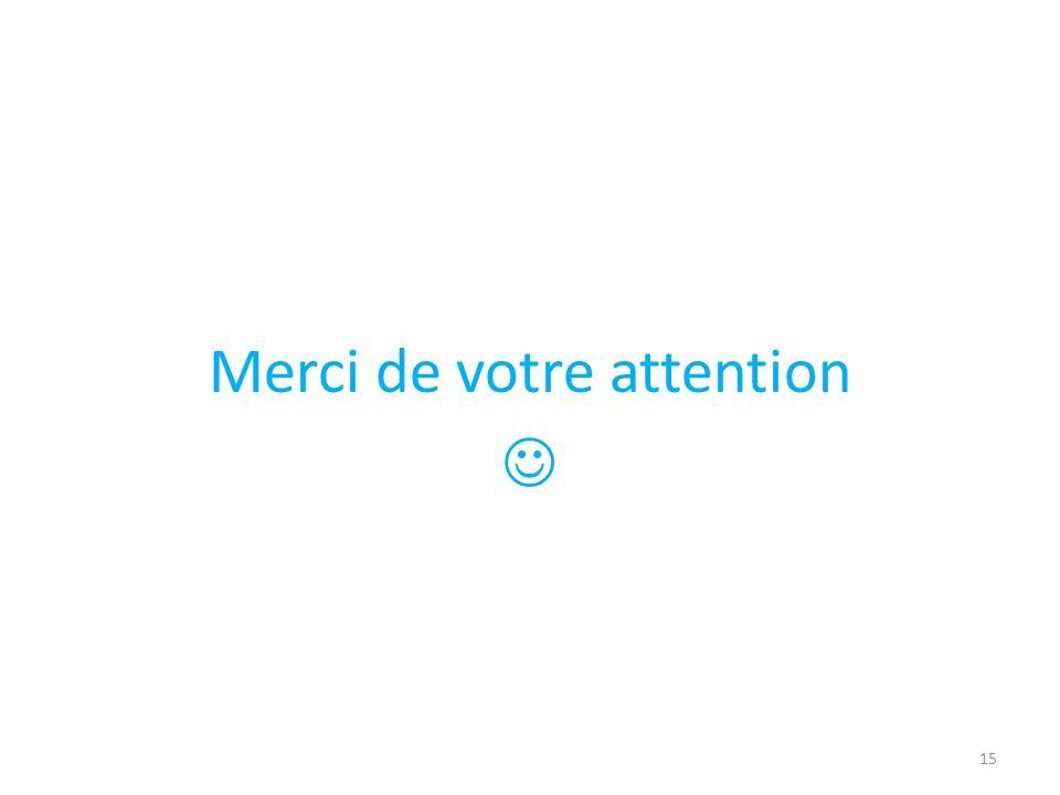 Merci de votre attention 15