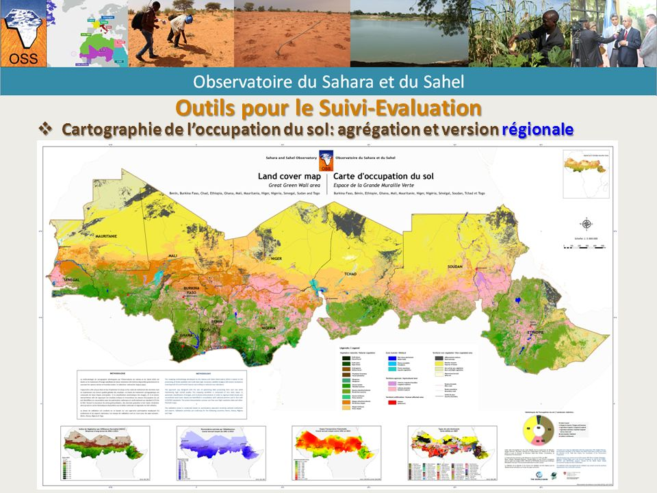  Cartographie de l'occupation du sol: agrégation et version régionale Outils pour le Suivi-Evaluation