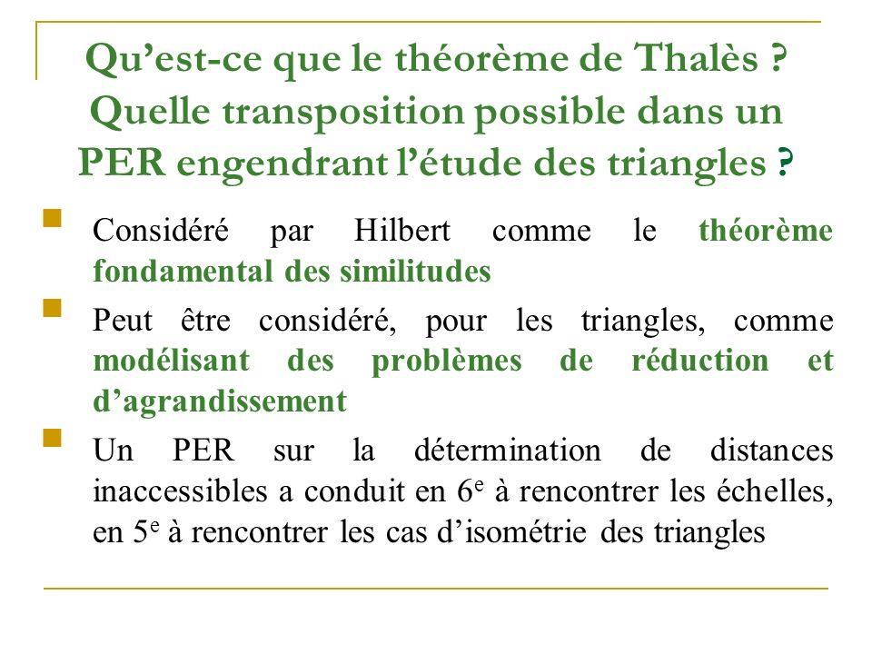 Qu'est-ce que le théorème de Thalès .