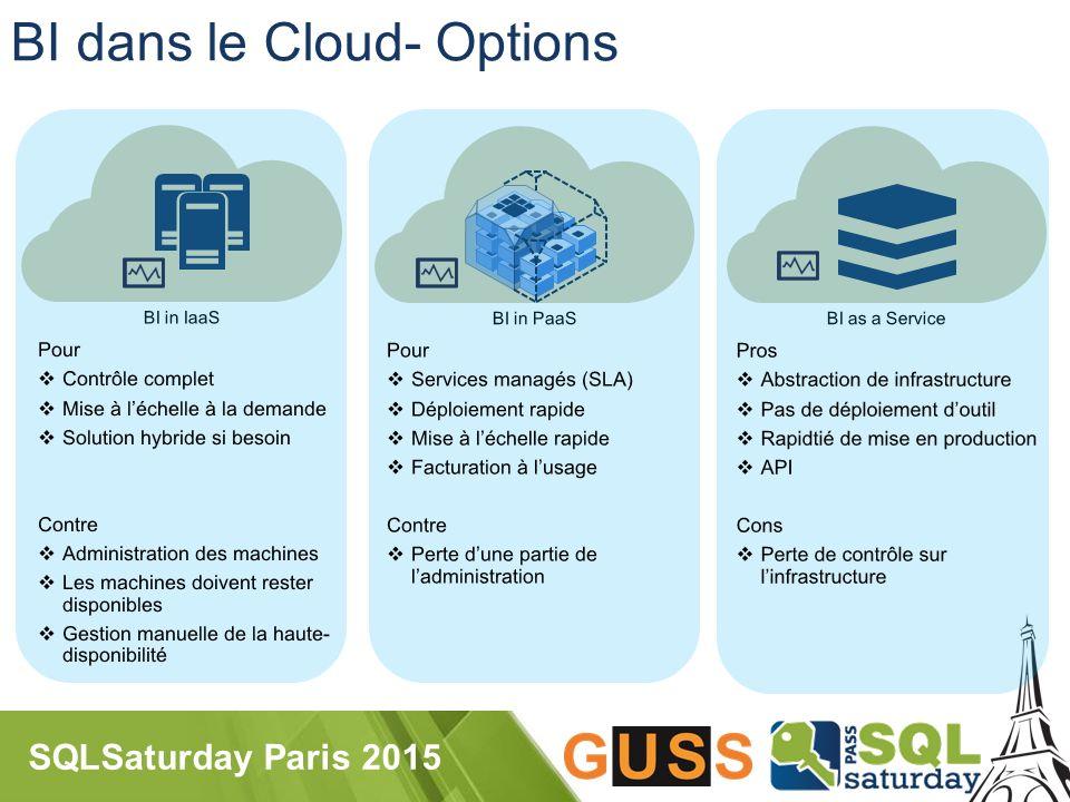 SQLSaturday Paris 2015 BI dans le Cloud- Options