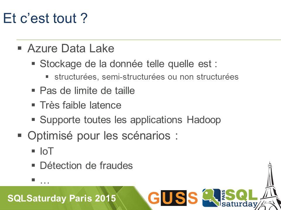 SQLSaturday Paris 2015 Et c'est tout .