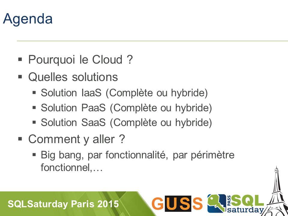 SQLSaturday Paris 2015 Agenda  Pourquoi le Cloud .