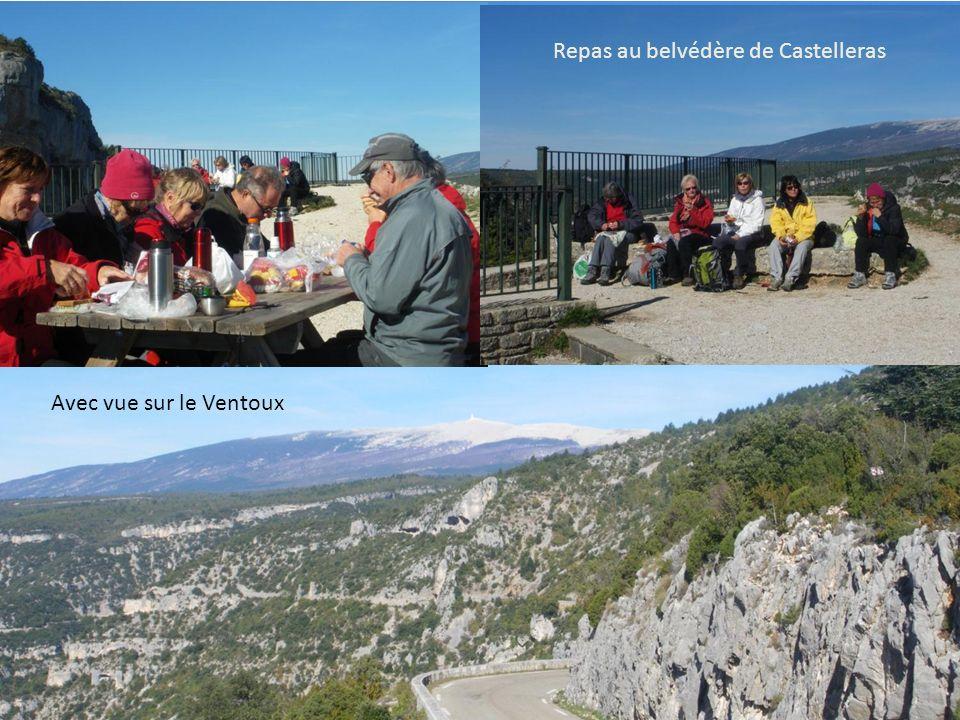 Repas au belvédère de Castelleras Avec vue sur le Ventoux