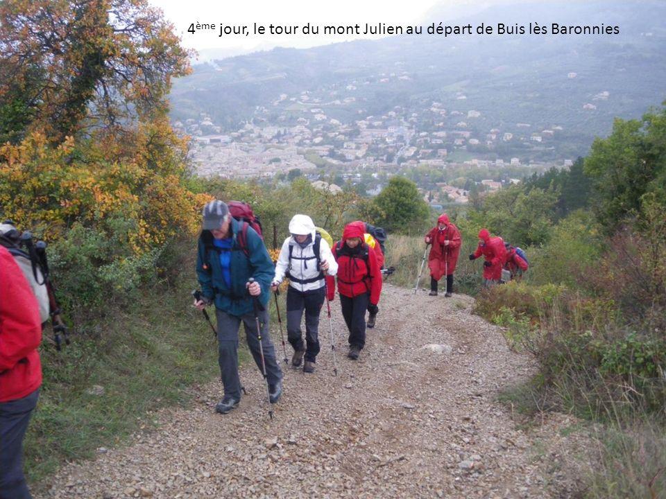 4 ème jour, le tour du mont Julien au départ de Buis lès Baronnies