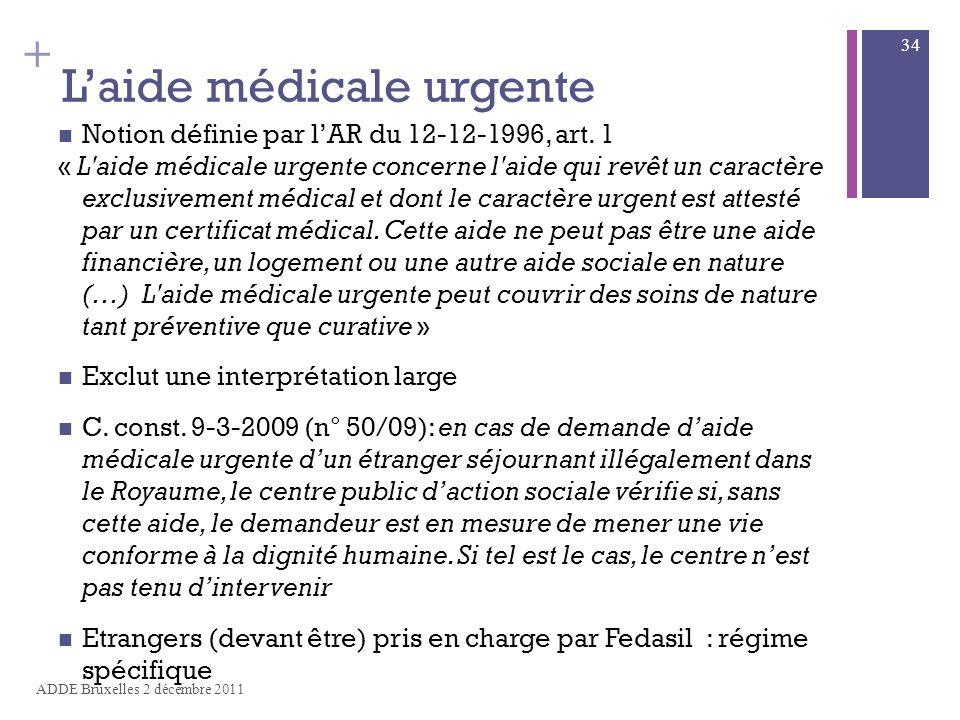 aide sociale urgente
