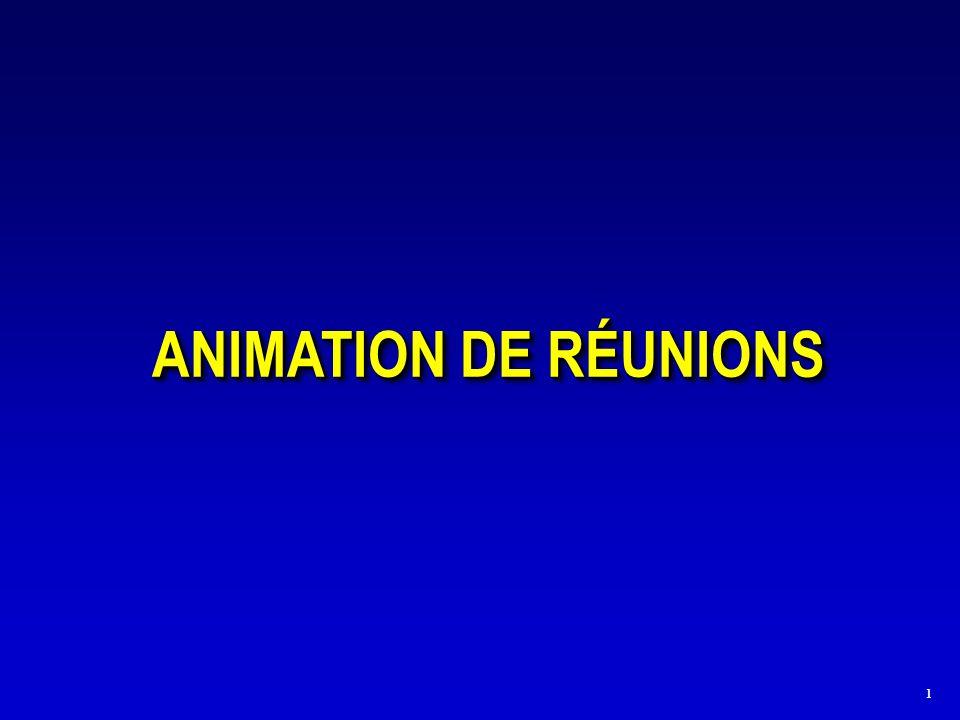 1 ANIMATION DE RÉUNIONS