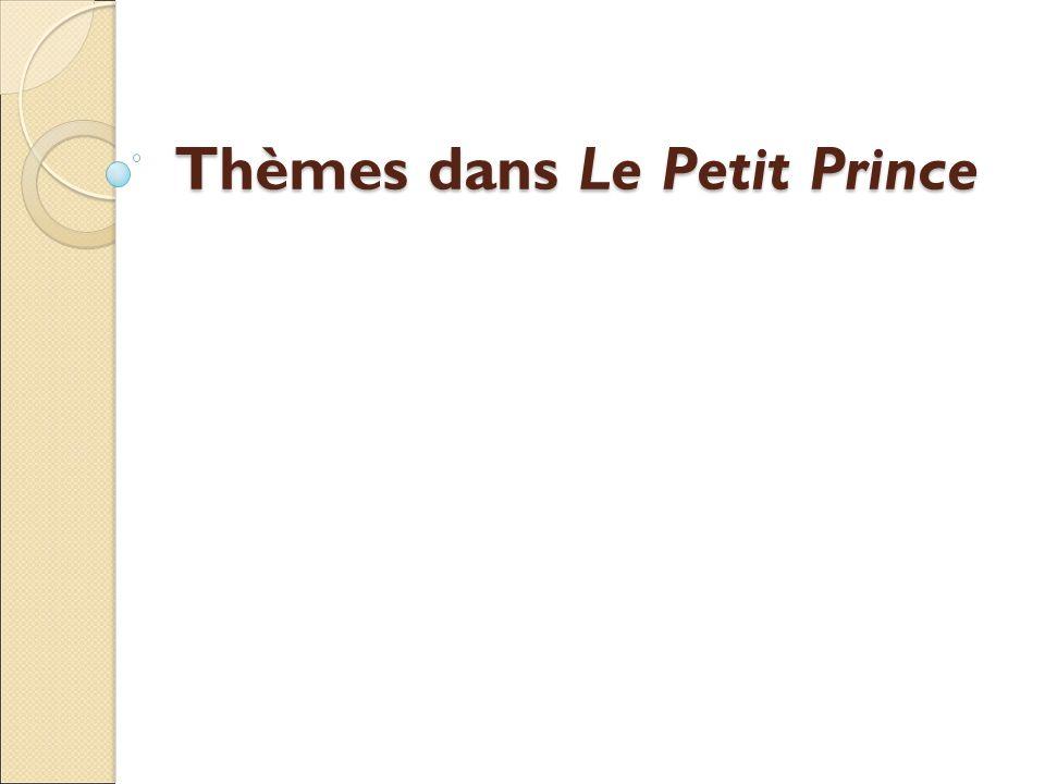 Thèmes dans Le Petit Prince