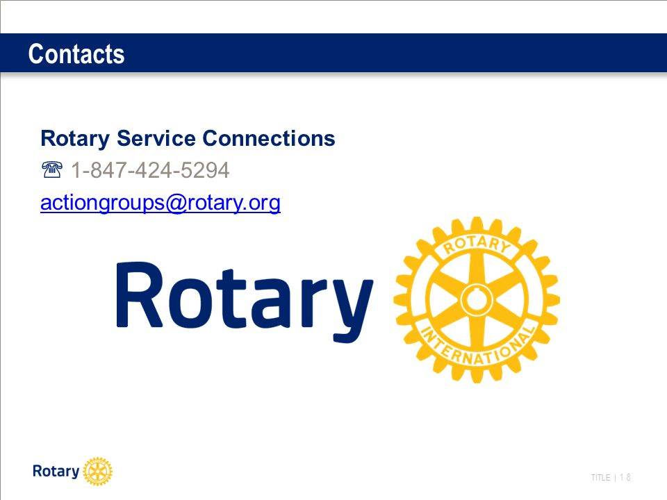 TITLE | 18 Contacts Rotary Service Connections 