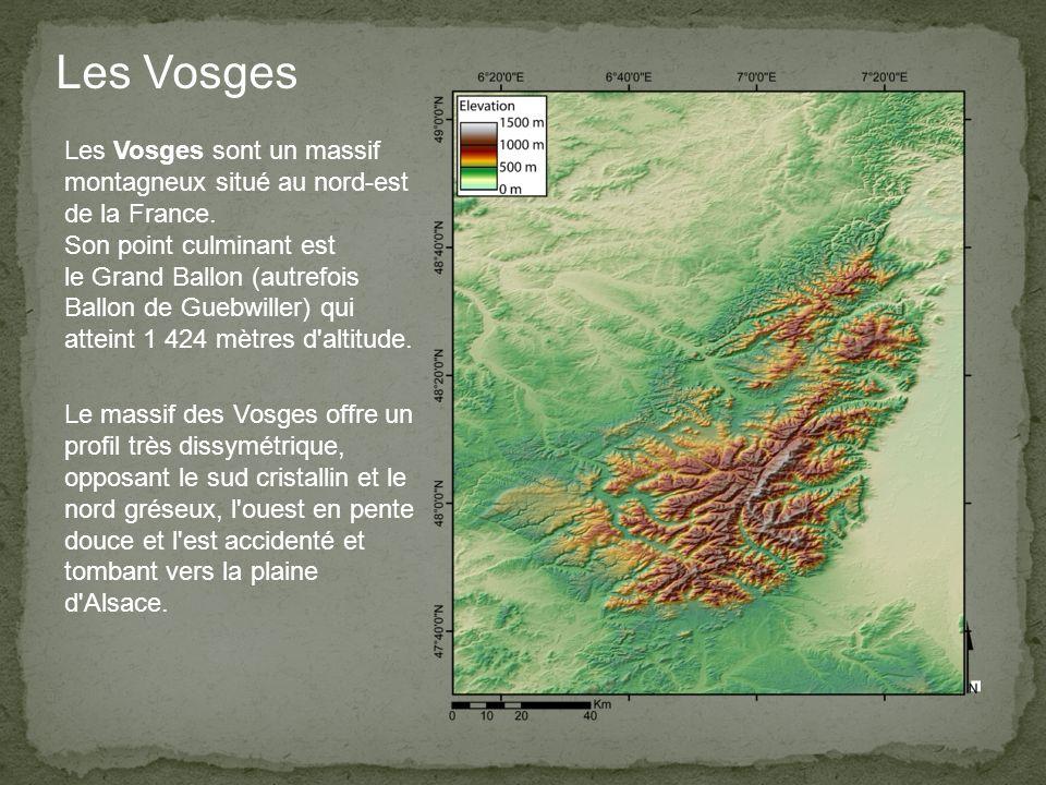 Les Vosges sont un massif montagneux situé au nord-est de la France.