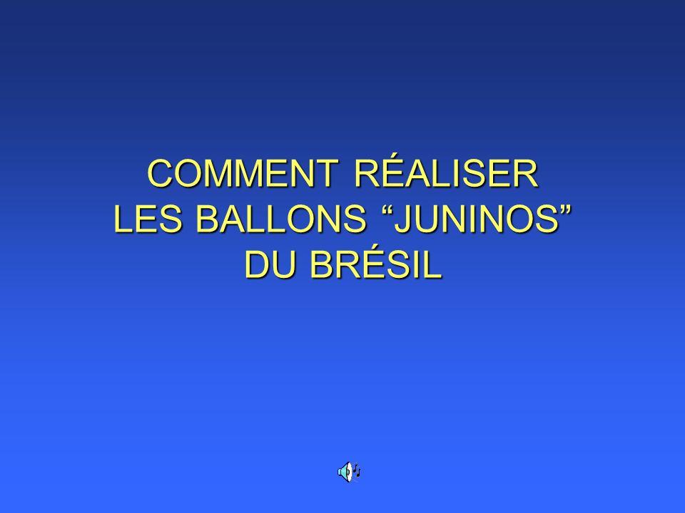 COMMENT RÉALISER LES BALLONS JUNINOS DU BRÉSIL