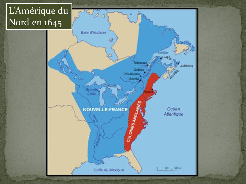 L'Amérique du Nord en 1645