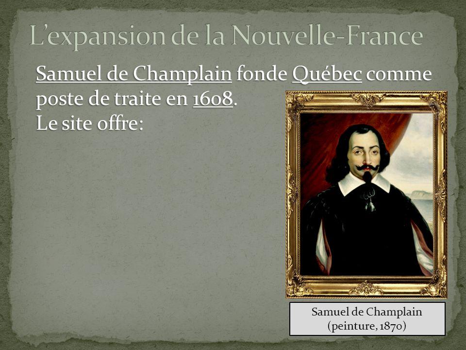 Samuel de Champlain fonde Québec comme poste de traite en 1608.