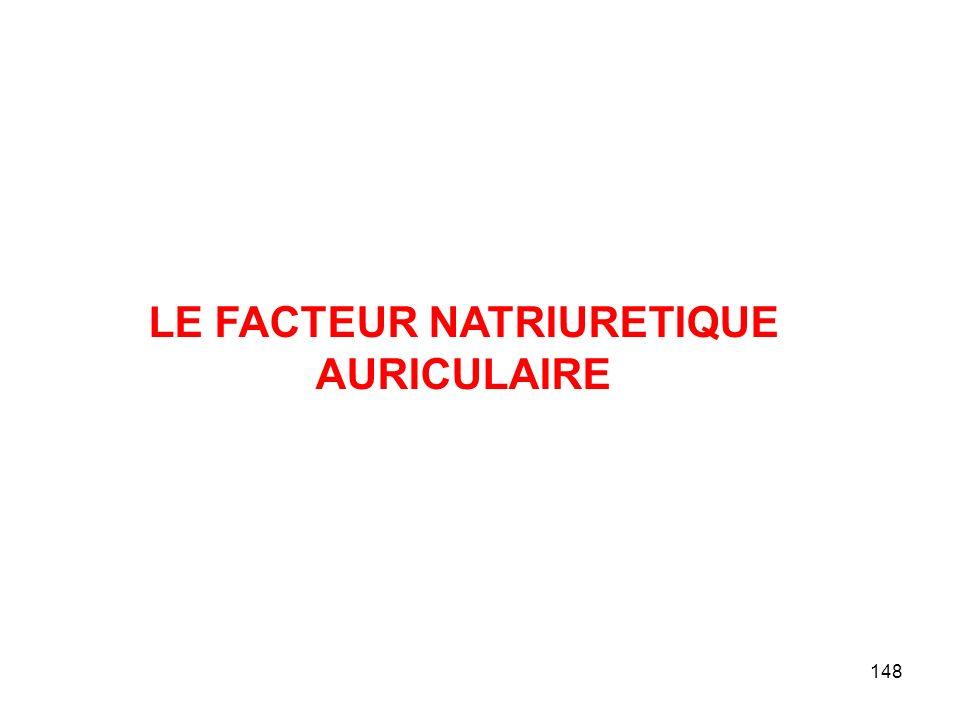 148 LE FACTEUR NATRIURETIQUE AURICULAIRE
