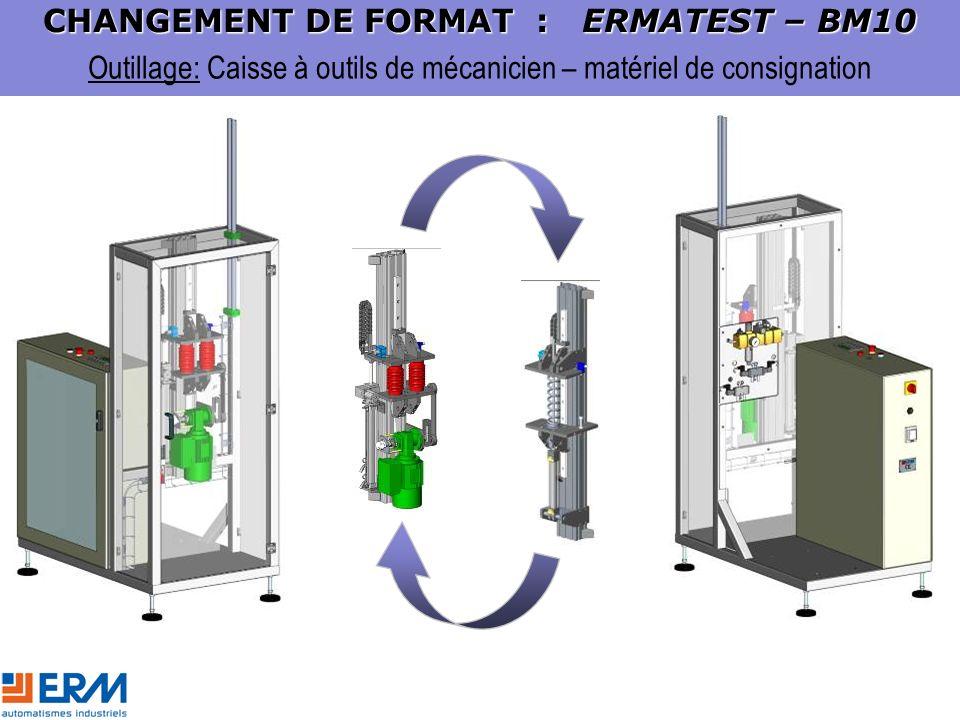 Outillage: Caisse à outils de mécanicien – matériel de consignation CHANGEMENT DE FORMAT : ERMATEST – BM10