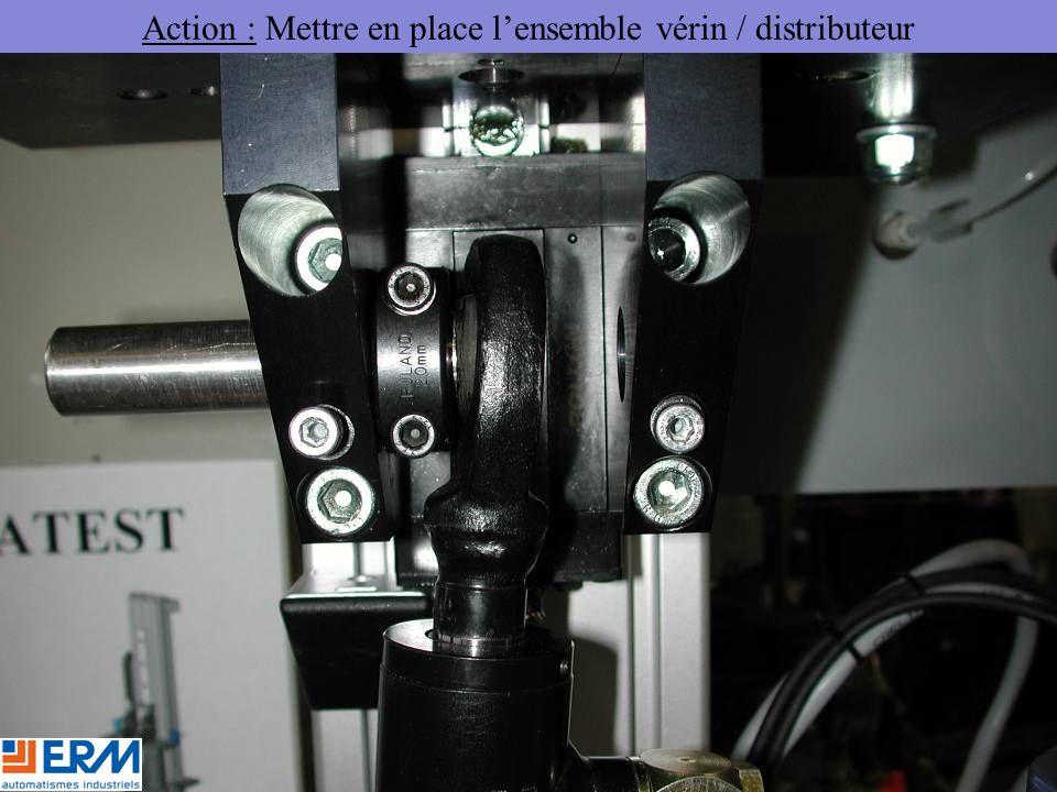 Action : Mettre en place l'ensemble vérin / distributeur