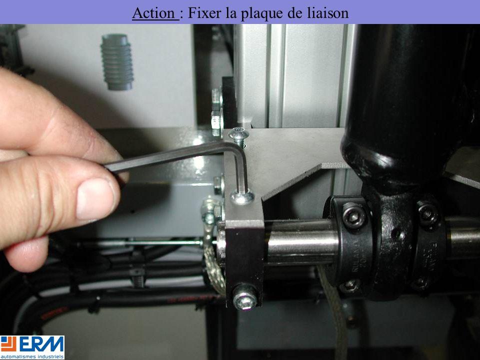 Action : Fixer la plaque de liaison