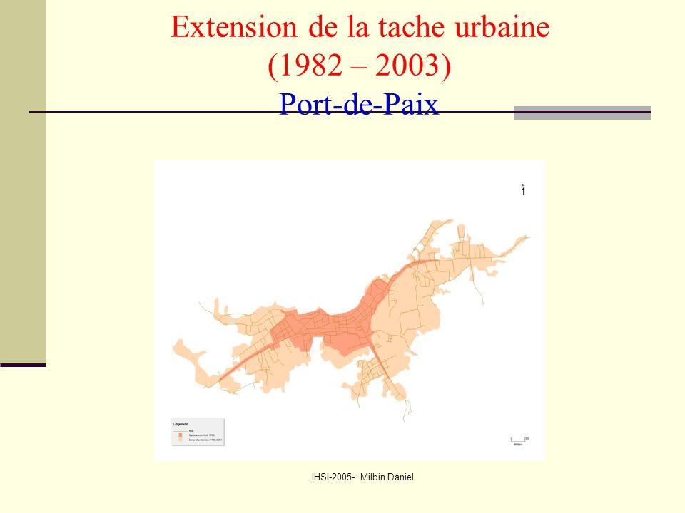IHSI-2005- Milbin Daniel Extension de la tache urbaine (1982 – 2003) Port-de-Paix