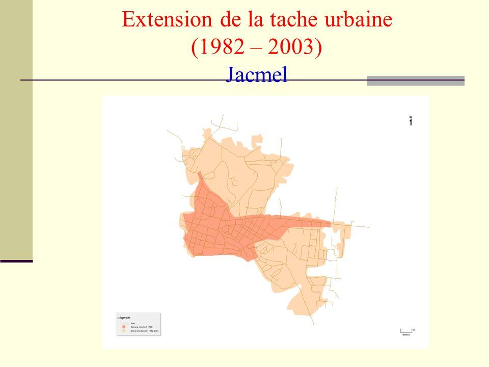 IHSI-2005- Milbin Daniel Extension de la tache urbaine (1982 – 2003) Jacmel