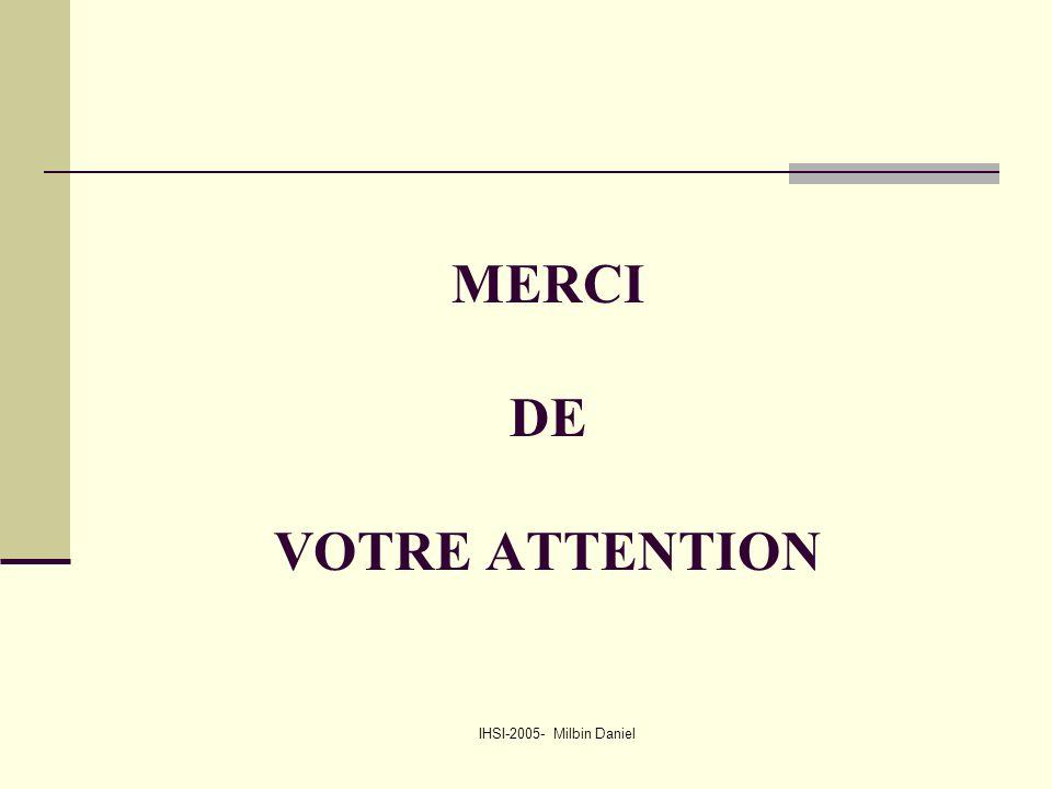IHSI-2005- Milbin Daniel MERCI DE VOTRE ATTENTION