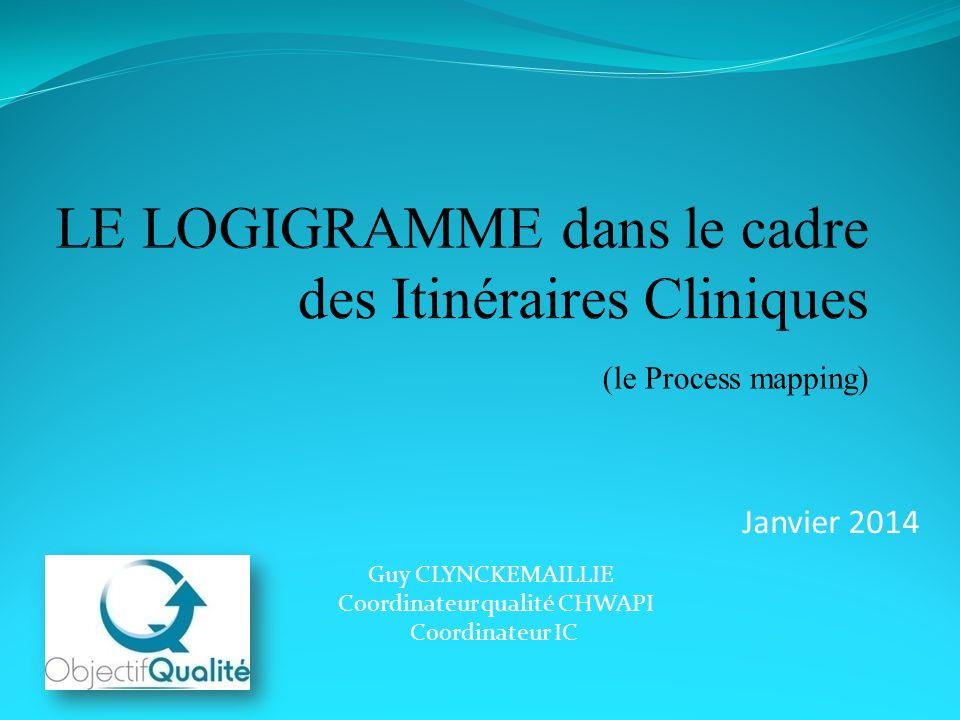 Janvier 2014 Guy CLYNCKEMAILLIE Coordinateur qualité CHWAPI Coordinateur IC