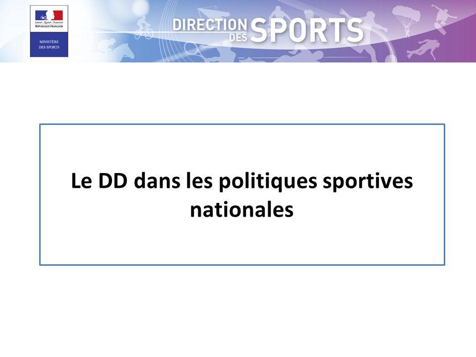 Le DD dans les politiques sportives nationales