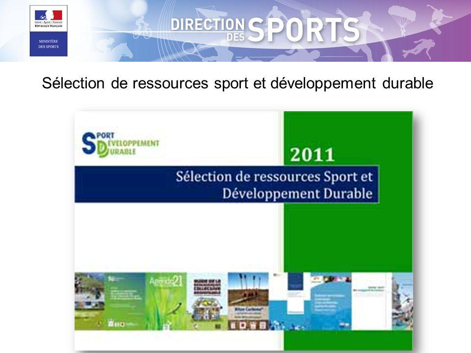 Sélection de ressources sport et développement durable