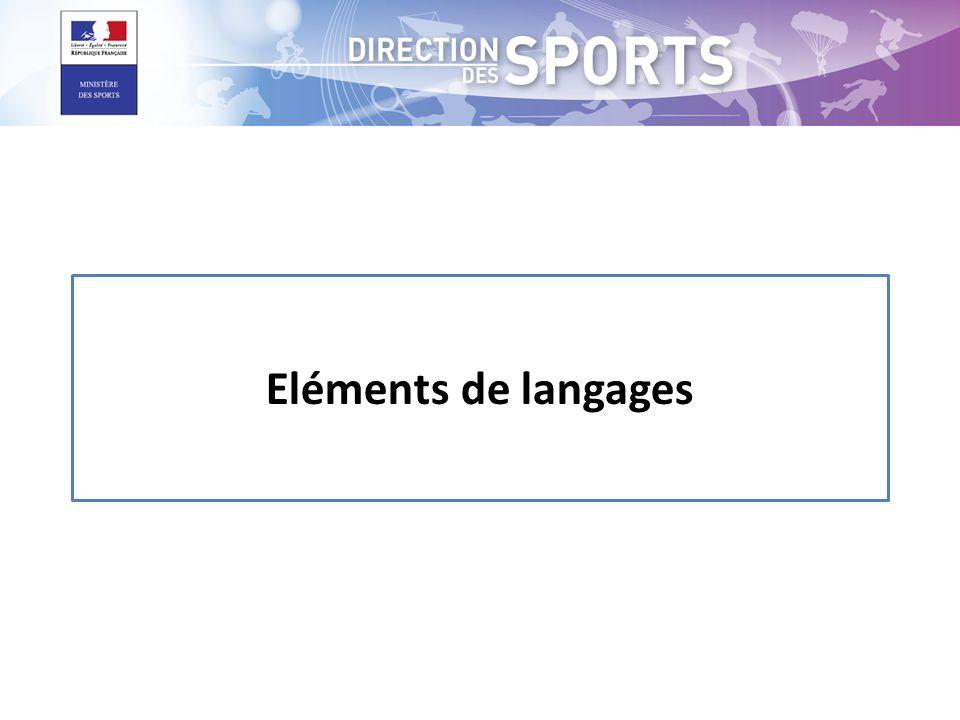 Eléments de langages