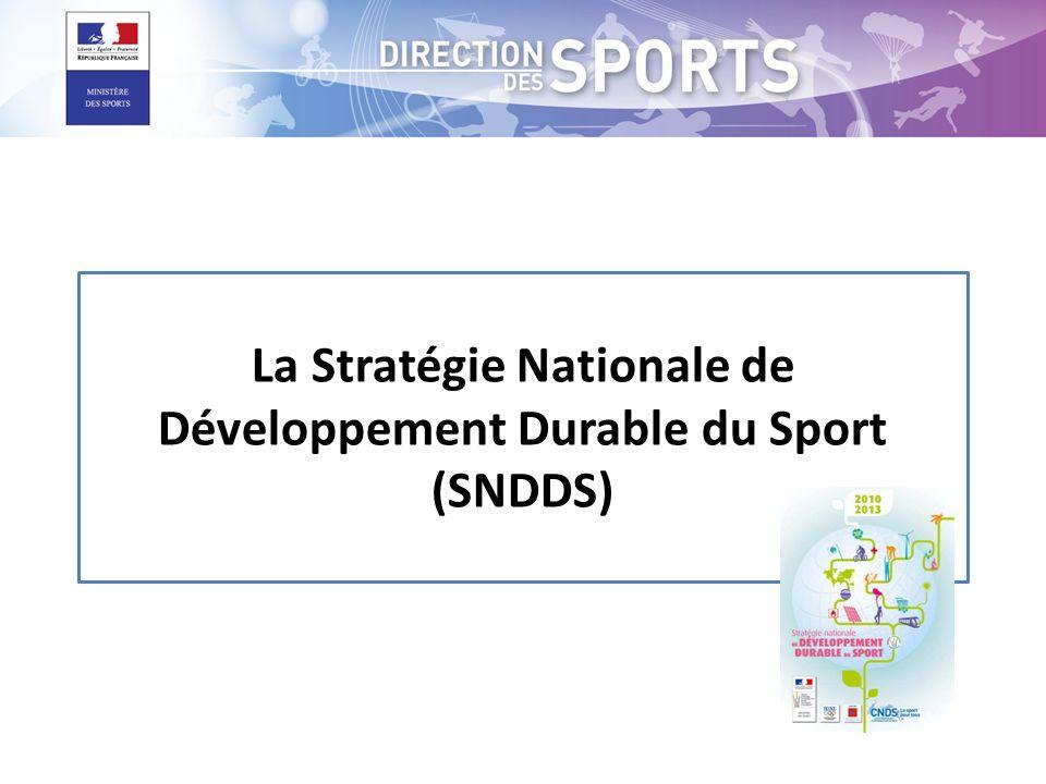 La Stratégie Nationale de Développement Durable du Sport (SNDDS)