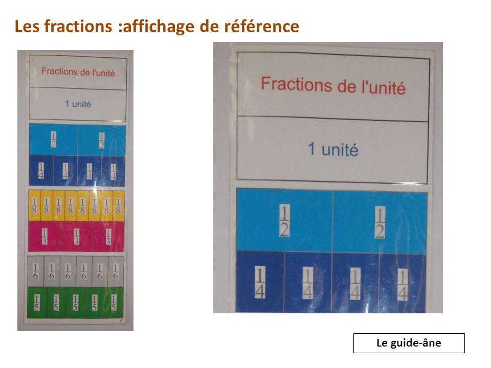 Les fractions :affichage de référence Le guide-âne