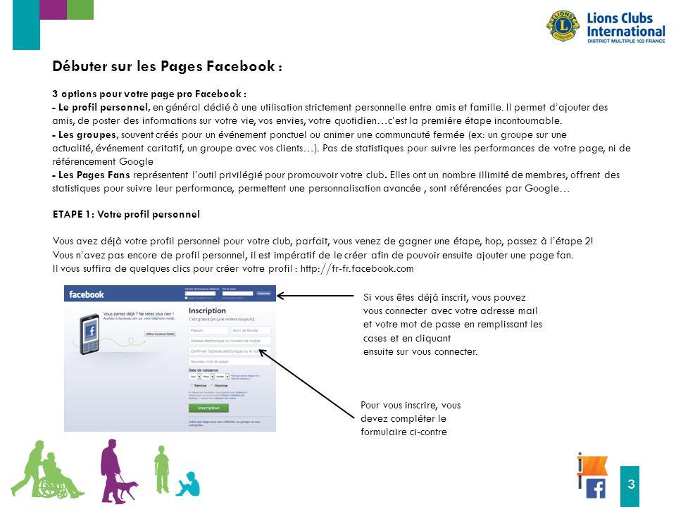 16 3 3 options pour votre page pro Facebook : - Le profil personnel, en général dédié à une utilisation strictement personnelle entre amis et famille.