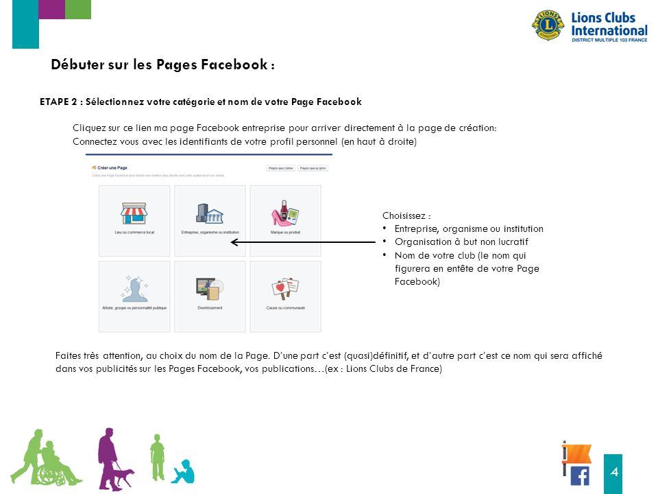16 4 Débuter sur les Pages Facebook : Faites très attention, au choix du nom de la Page.