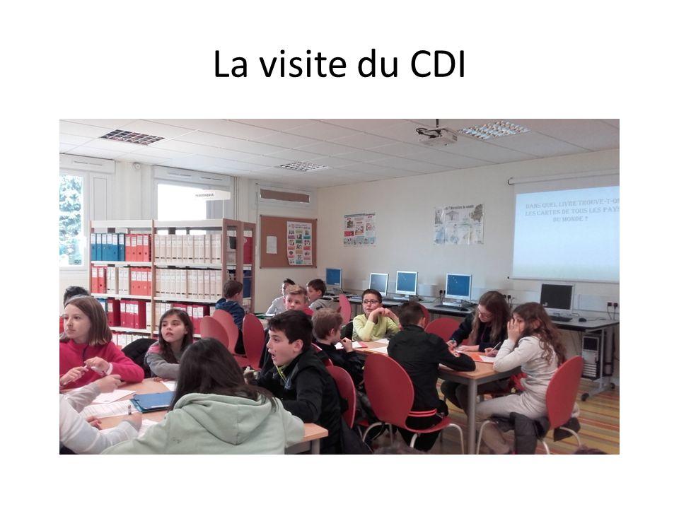 La visite du CDI
