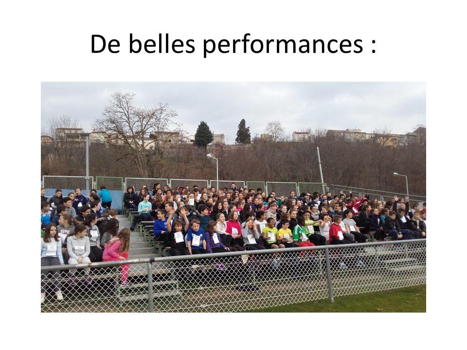 De belles performances :
