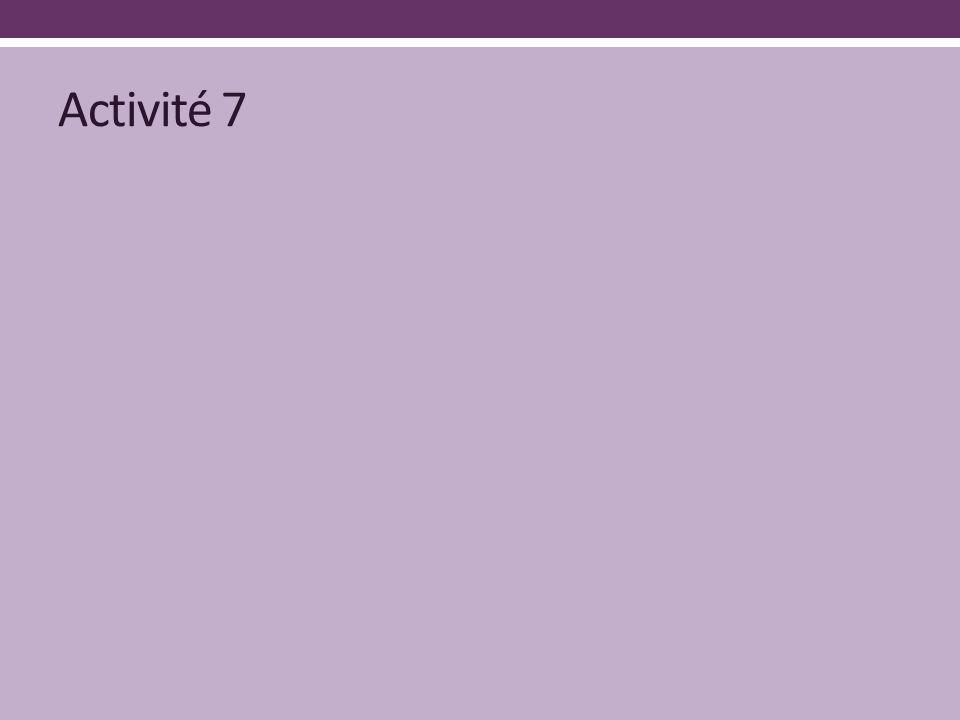 Activité 7